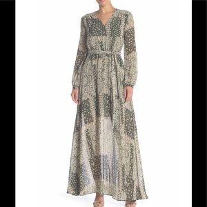 AAKAA Long Sleeve Maxi Dress, Belt Not Included